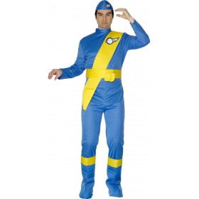 Thunderbirds Virgil Fancy Dress Costume Mens (1970S, 1980S, Cartoon, Film)