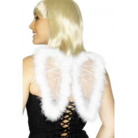 Mini Glitter Wings - Fancy Dress Ladies - White
