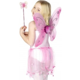 Pink Butterfly Wings - Fancy Dress Girls