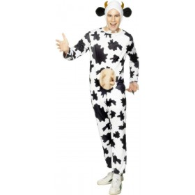 Cow Fancy Dress Costume Mens (Animals)