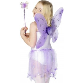 Purple Butterfly Wings - Fancy Dress Girls
