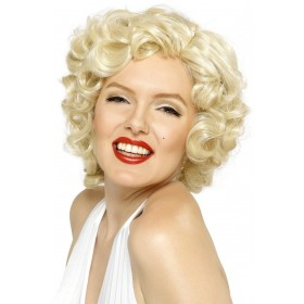 Marilyn Monroe Wig - Fancy Dress Ladies (Music) - Blonde