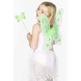Green Butterfly Wings - Fancy Dress Girls