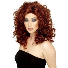 Sitcom Star Wig - Fancy Dress Ladies - Auburn