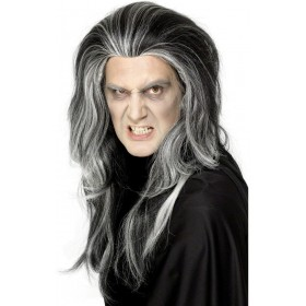 Gothic Vampire Wig - Fancy Dress (Halloween) - Black/White