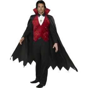 Vampire Fancy Dress Costume Mens (Halloween)