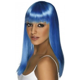 Glamourama Wig - Fancy Dress Ladies - Blue
