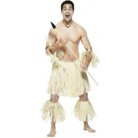 Zulu Warrior Fancy Dress Costume Mens (Cultures)