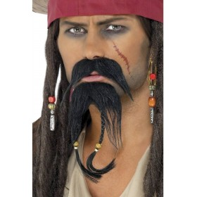 Pirate Facial Hair Set - Fancy Dress Mens (Pirates)