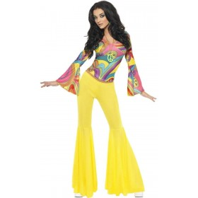 Fever 70S Groovy Babe Fancy Dress Costume Ladies (Sexy)