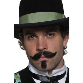 Authentic Western Gambler Moustache - Fancy Dress Mens (Cowboys/Native Americans)
