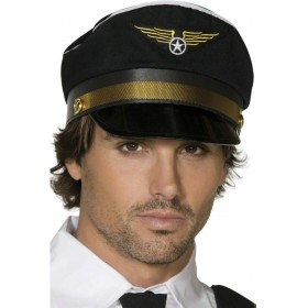 Pilots Cap - Fancy Dress Mens