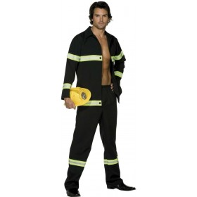 Fever Fireman Fancy Dress Costume Mens (Fire Service)