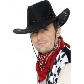 Cowboy Hat - Fancy Dress Mens (Cowboys/Indians)