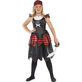 Gothic Pirate Fancy Dress Costume Girls (Pirates)