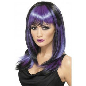 Glamour Witch Wig - Fancy Dress Ladies (Halloween) - Black