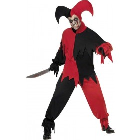 Dark Jester Fancy Dress Costume Mens (Halloween)