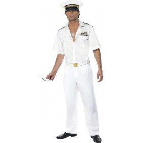 Top Gun Captain Fancy Dress Costume Mens (1980S , Army , Film , Pilot/Air , Tv)