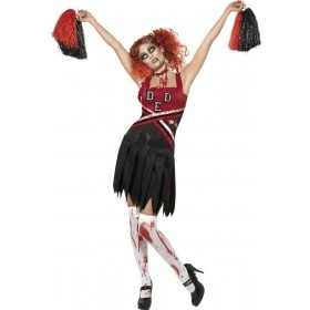 High School Horror Cheerleader Fancy Dress Costume (Sport)