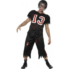 High School Horror Zombie American Footballer Costume (Halloween)