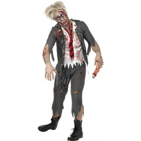 High School Horror Zombie School Boy Costume Mens (Halloween)