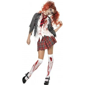High School Horror Zombie Schoolgirl Costume Ladies (Halloween)