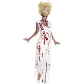 High School Horror Zombie Prom Queen Costume Ladies (Halloween)