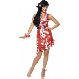 Hawaiian Beauty Fancy Dress Costume Ladies (Hawaiian)