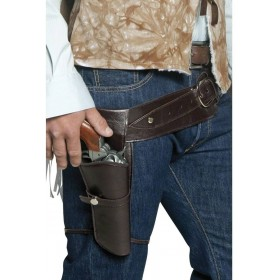 Authentic Western Gunman Belt & Holster, Fancy Dress (Cowboys/Indians)