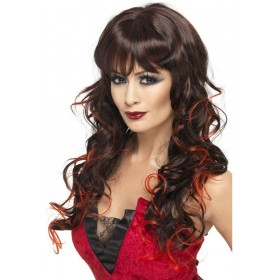 Vixen Wig - Fancy Dress Ladies (Halloween) - Brown/Red
