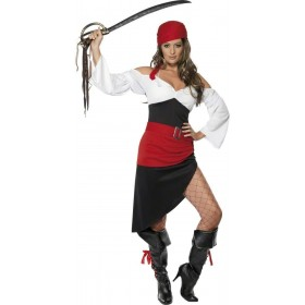Sassy Pirate Wench Fancy Dress Costume Ladies (Pirates)