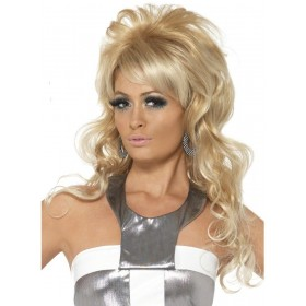 60'S Beauty Queen Wig Fancy Dress Ladies (Royalty) - Blonde