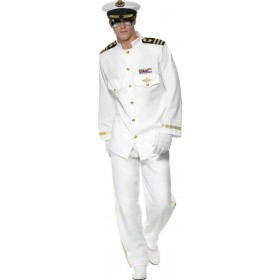 Captain Deluxe Fancy Dress Costume Mens (Sailor)