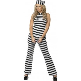 Convict Cutie Fancy Dress Costume Ladies (Cops/Robbers)