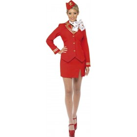 Trolley Dolly Fancy Dress Costume Ladies (Pilot/Air)