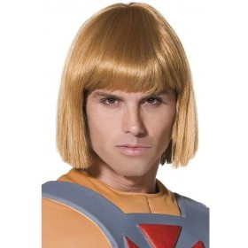 He-Man Wig - Fancy Dress Mens (1980S , Cartoon , Film , Heroes , Tv) - Blonde