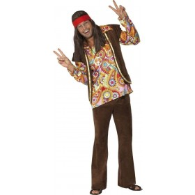Psychedelic 1960'S Hippy Fancy Dress Costume Mens (1960S)