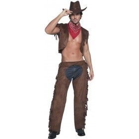 Fever Male &Amp Fancy Dress Costume Mens Size 38-40 S (Cowboys/Native Americans , Sexy)