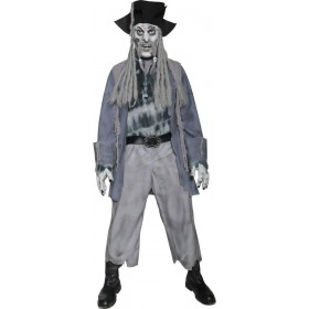 Zombie Ghost Pirate Fancy Dress Costume Mens (Halloween)