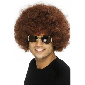 70S Funky Afro Brown Wig - Fancy Dress (1970S)