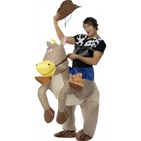 Ride Em Cowboy Inflatable Fancy Dress Costume (Cowboys/Native Americans)