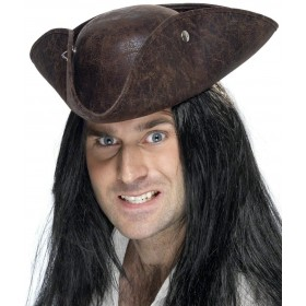 Pirate Tricorn Hat - Fancy Dress (Pirates)