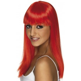 Glamourama Wig - Fancy Dress Ladies -Red