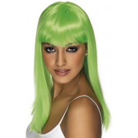 Glamourama Wig - Fancy Dress Ladies - Green