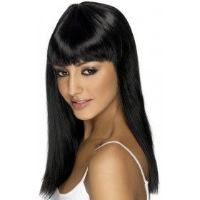 Glamourama Wig - Fancy Dress Ladies - Black