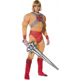 He Man/Prince Adam Fancy Dress Costume(1980S, Cartoon, Film, Heroes)