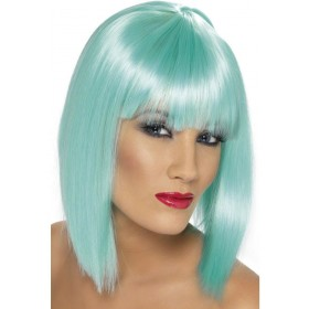 Glam Wig - Fancy Dress Ladies - Aqua