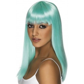 Glamourama Wig - Fancy Dress Ladies - Aqua