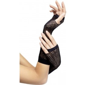 Fishnet Gloves Black - Fancy Dress Ladies