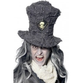 Gravedigger Top Hat - Fancy Dress (Halloween)